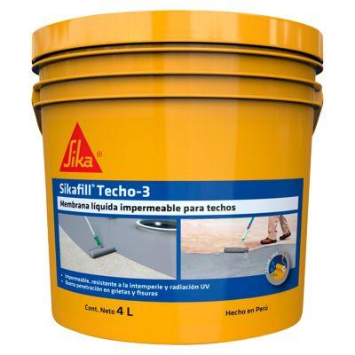 Impermeabilizante Sikafill Techo3 4L