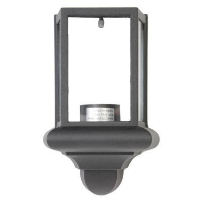 Farol de pared aluminio negro 1 luz