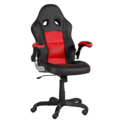 Silla de escritorio Automóvil negro/rojo