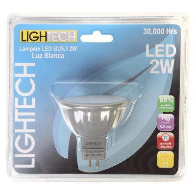Focos LED Dicroicos 4W Gu5.3 Luz Blanca