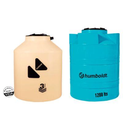 Combo Tanque Beige 1000 L Karson + Cisterna de Agua 1200 L Humboldt