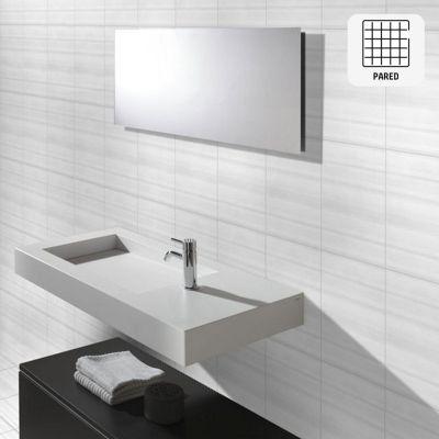 Cerámica Tiziano Blanco Liso 27x45cm para pared