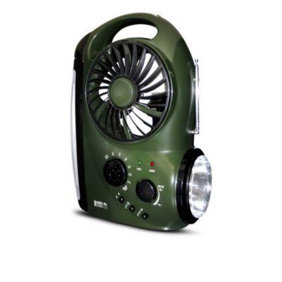 Lámpara Linterna con Ventilador y Radio
