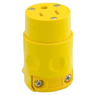 Conector Aereo 2P+T Amarillo