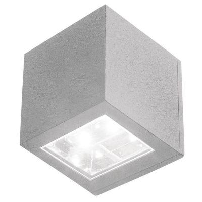 Aplique Exterior 1 luz led plateado
