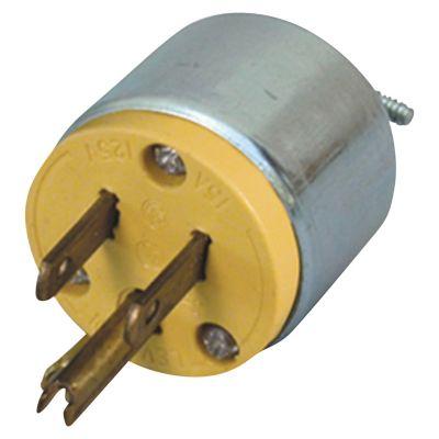 Enchufe 2P + T 15A 125V L/T PVC Amarillo