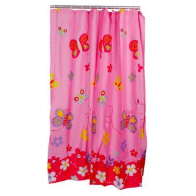 Cortina de baño Mariposas 180x180cm
