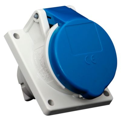 Toma Empotrable 16AMP 2P+T 250V Azul 6H IP44