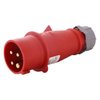 Enchufe 16AMP 3P+T 415V Rojo 6H IP44