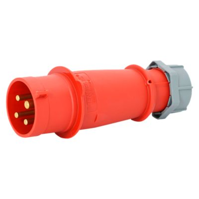Enchufe 32AMP 3P+T 415V Rojo 6H IP44