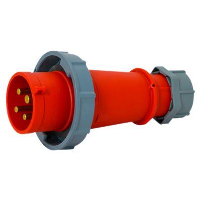 Enchufe 32AMP 3P+T 415V Rojo 6H IP67