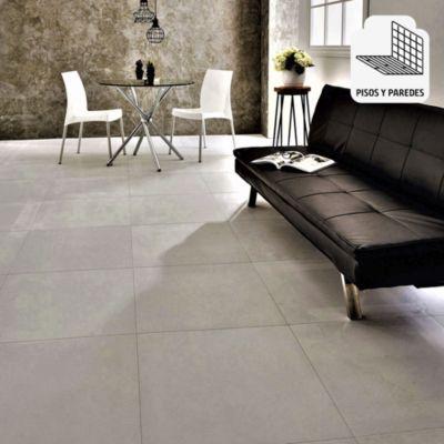 Porcelanato Cemento Natural Gris Rústico 60x60 cm para piso o pared