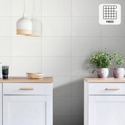 Cerámico Granizo Blanco Liso 25x40cm para pared