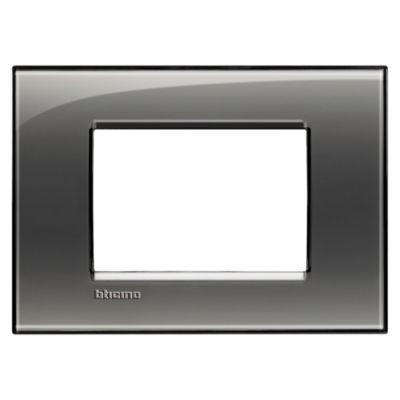 Placa Rectangular Tecnop 3 Módulos Matix Humo