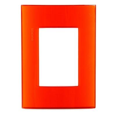 Placa Rectangular Tecnop Living Light Naranja
