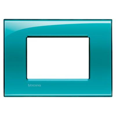Placa Rectangular Tecnop 3 Módulos Matix verde