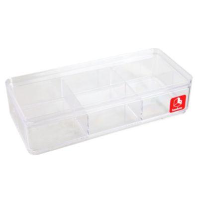 Caja transparente 6 divisiones 21x9cm