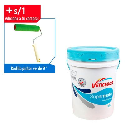 Latex Supermate Hidrorrepelente Blanco 5 gl