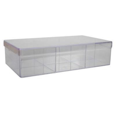 Caja transparente 6 divisiones 23x13cm