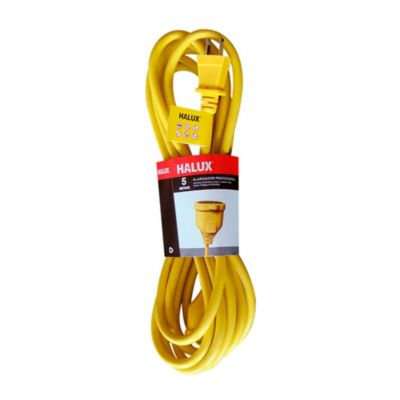Extension profesional 2x14AWG 5m Amarillo
