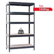 Estante de metal/madera 50x100x192cm Antr