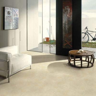 Cerámica Concreto Marfil Rústico 45x45cm para piso o pared