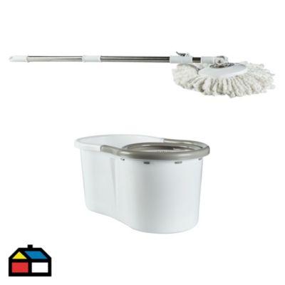 Balde plástico 15 L con centrifugado + trapeador