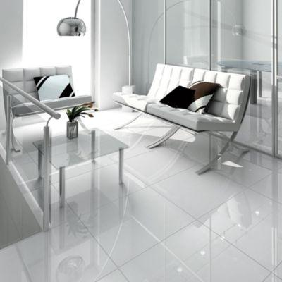 Gres Porcelanico Crystal White Marmolizado 59x59cm para piso o pared