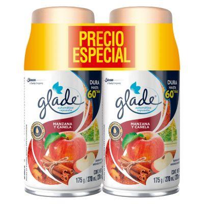 Repuestos Glade Manzana y Canela x 2 unidades 270 ml