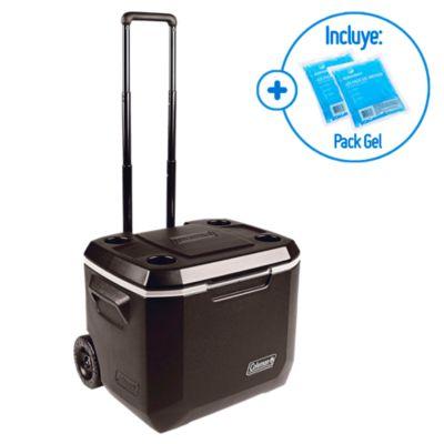 Combo Cooler con ruedas 47L Coleman + 2 Ices Pack Gel Medium Klimber