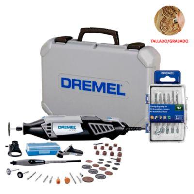 Dremel 4000 + 36 Accesorios + Kit 11 accesorios tallado/grabado