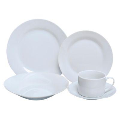 Set de vajilla porcelana blanca 20 piezas