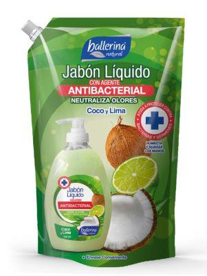 Doypack Jabón líquido Antibacterial Coco/Lima900 ml