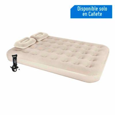 Colchón 2 plazas + 2 almohadas + inflador