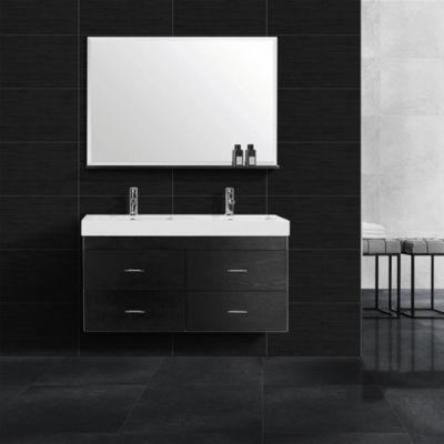 Cerámica Soho Negro Con Relieve 34x60cm para piso o pared