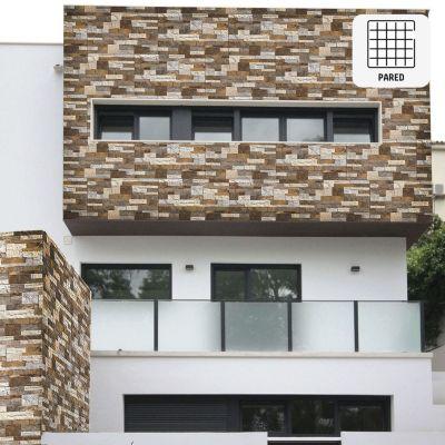 Cerámica Luau Natural Beige Fachaleta 34x60cm para piso o pared