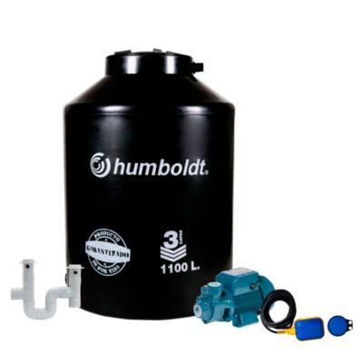 Combo Tanque de Agua 1100 L + Electrobomba Periférica 0.5 HP Humboldt + Kit Instalación Tanque + Automático de Nivel