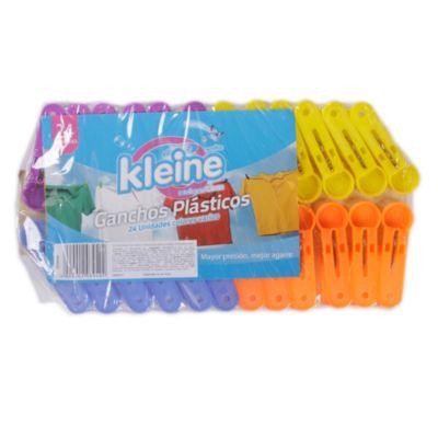 Set de 24 ganchos plasticos
