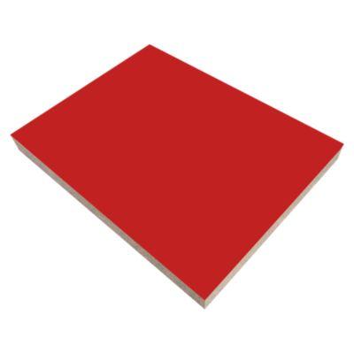 Tablero Melamina 18mm 2.15x2.44m Rojo