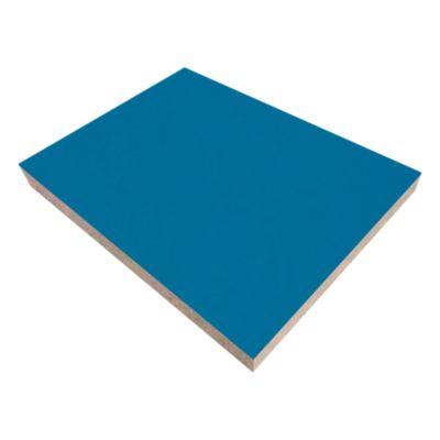 Tablero enchapado con Melamina Azul Lago 18mm 2.15x2.44m