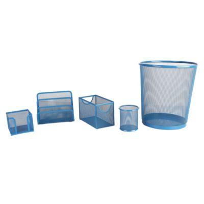 Set papelero 5 piezas azul
