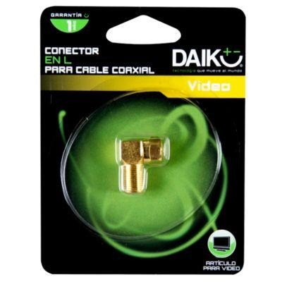 Conector en L para Cable Coaxial