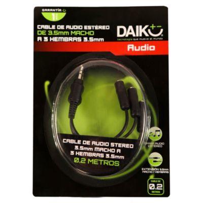 Cable de Audio 3.5 mm 3 Salidas