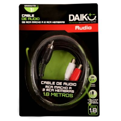 Cable de Audio 3.5 mm 2 Salidas RCA