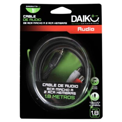 Cable de Audio RCA 3.5 mm 2 Salidas