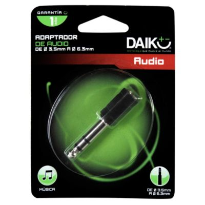 Adaptador de Audio 3.5 a 6.3 mm