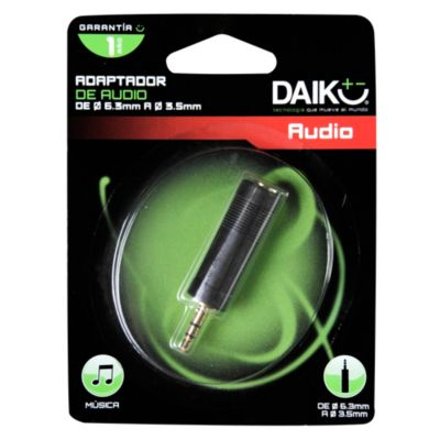 Adaptador de Audio 6.3 a 3.5 mm