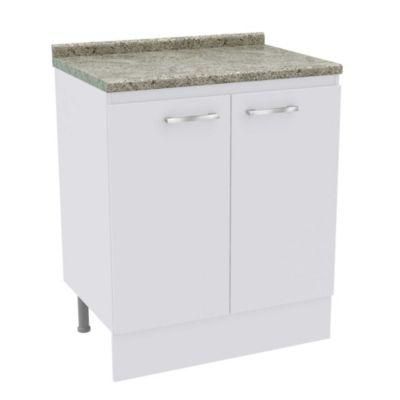 Mueble base 2 puertas Bianco 70 cm
