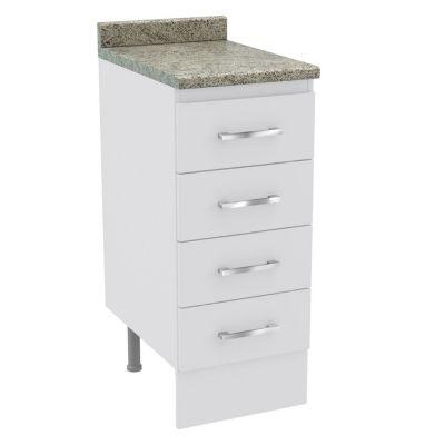 Mueble base 4 cajones Bianco 35 cm