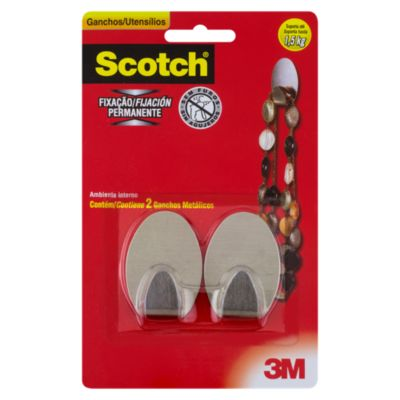 Gancho Scotch x2 metálico para 1.5 kg